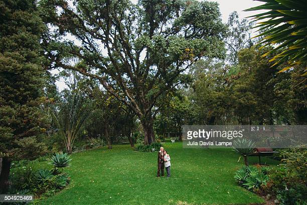 Couple in a large park/garden