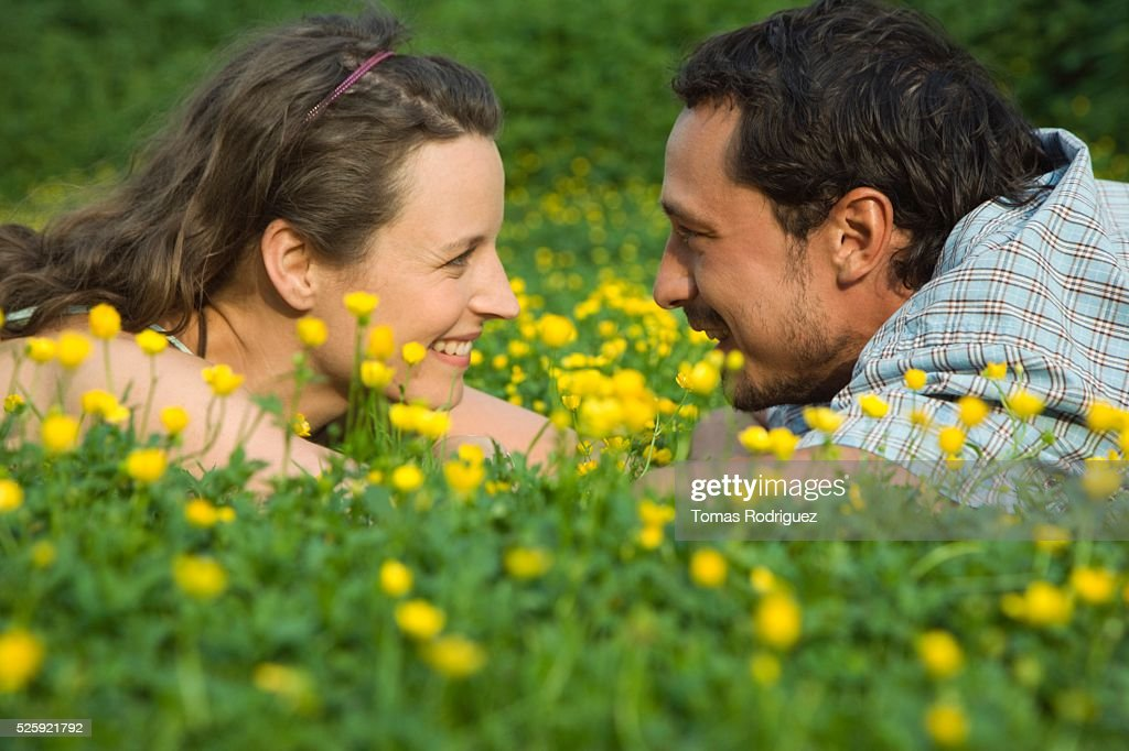 Couple in a Meadow : Stock Photo