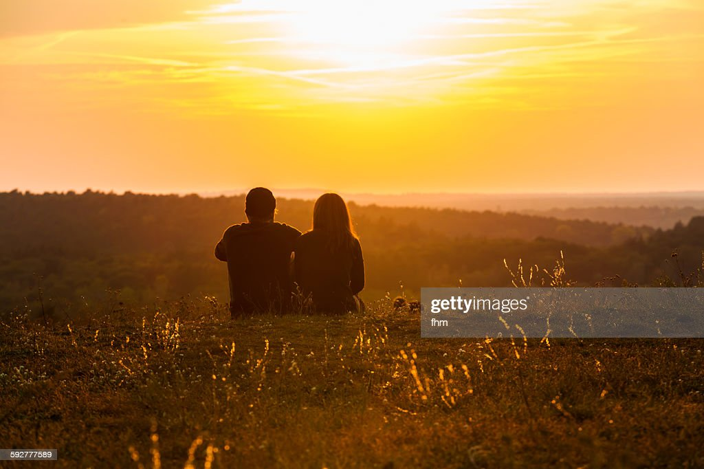 Couple in a nice sunset