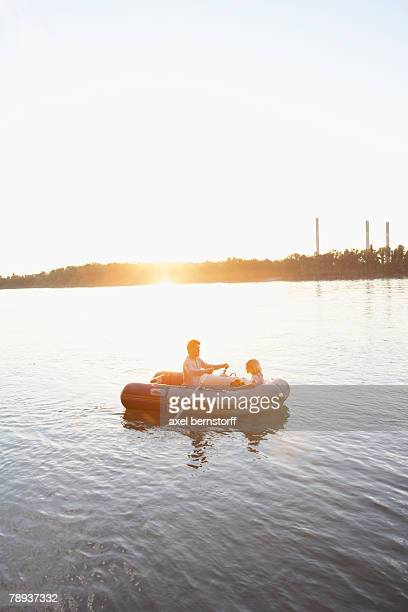 Couple in a raft.