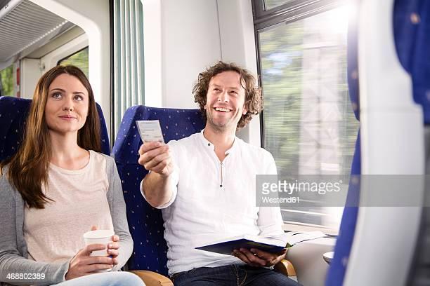 Couple in a train