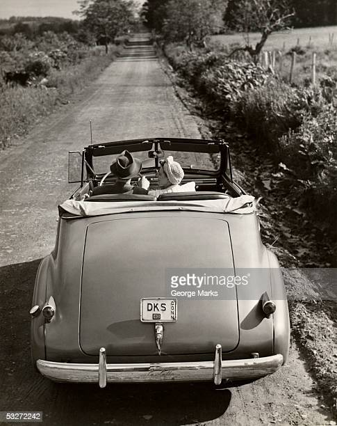 Couple in automobile