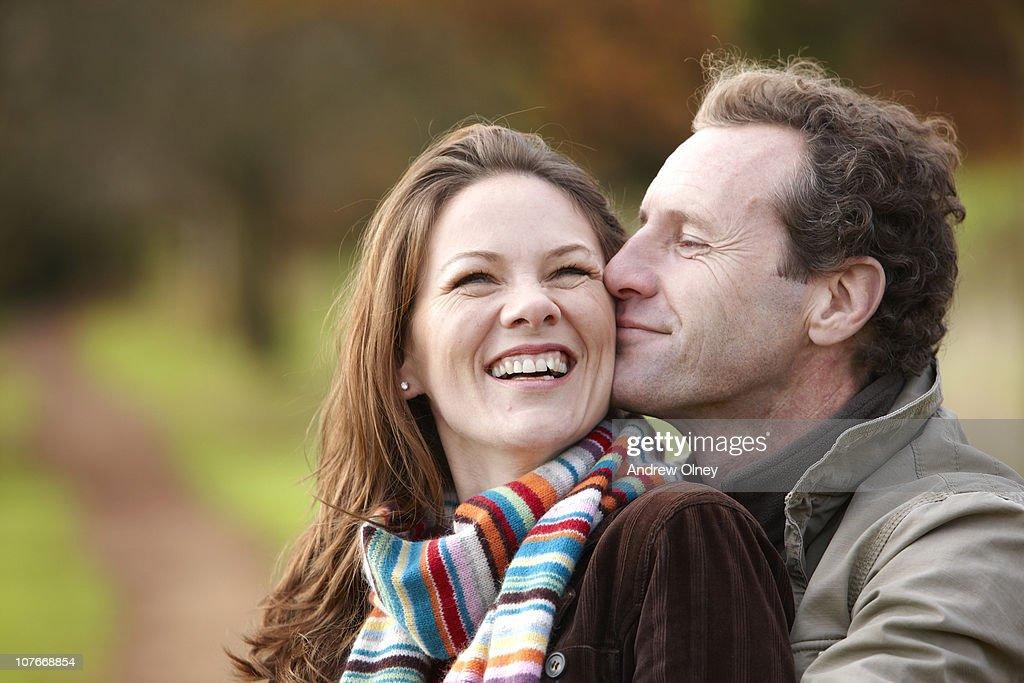 couple in autumn : Stock Photo