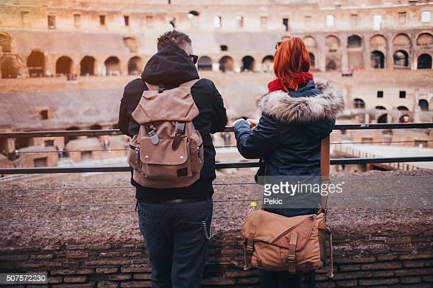 Couple in Colosseum