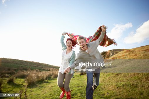 Couple in countryside : Stock Photo