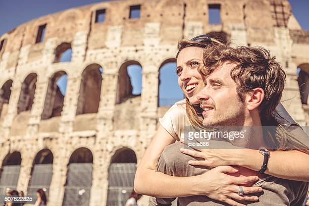 Couple in front of the Coliseum