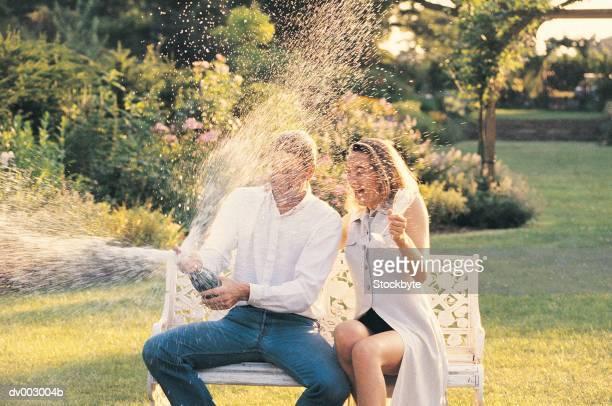 Couple in gardens
