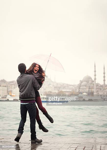 Coppia in amore a Istanbul