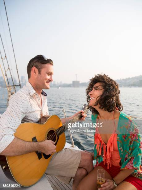 Couple In Love on a Sailboat