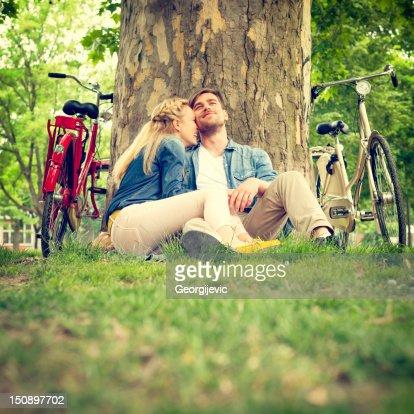 Couple in love : Bildbanksbilder