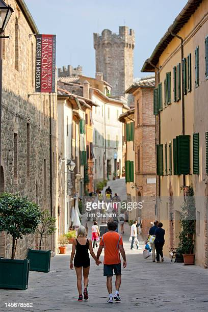 Couple in Montalcino, Tuscany, Italy