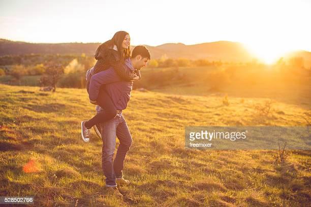 Couple dans la nature