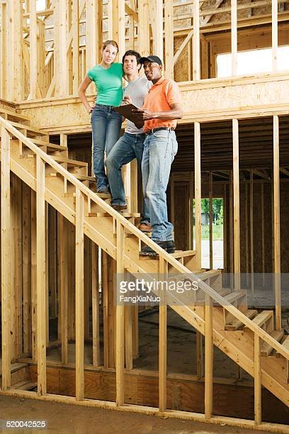Couple in new home construction