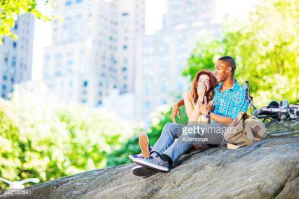 Couple in New York City's Central park
