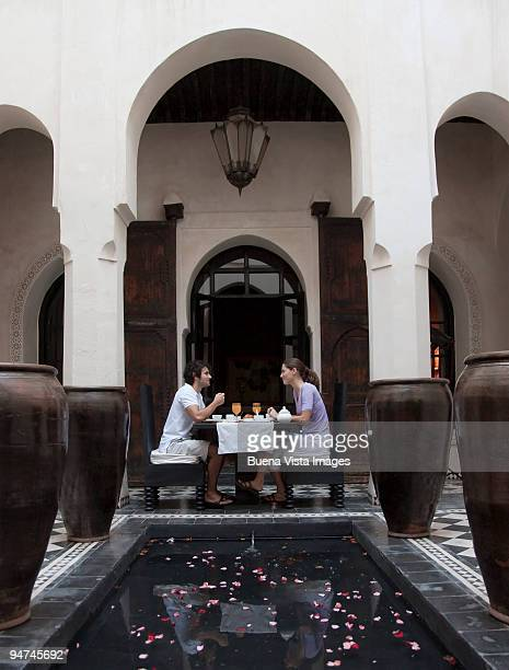 Couple in riad.