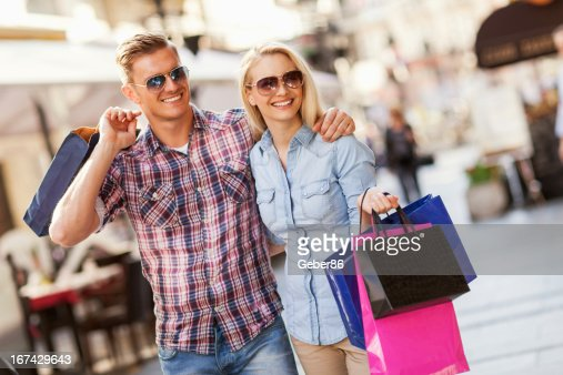 Couple in shopping : Stock Photo