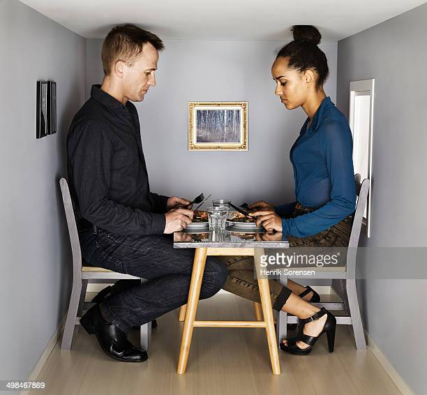 couple in smallscale dining room