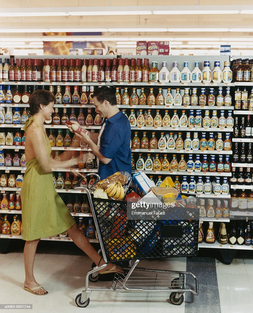 Couple in Supermarket : Stock Photo
