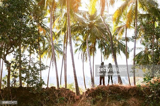 Paar in den Dschungel