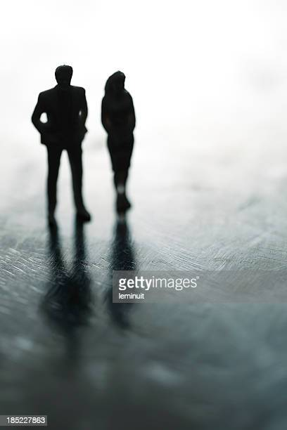 Couple in the shadows