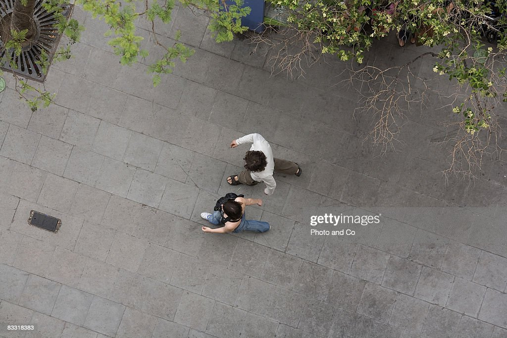 couple in the street : Stock Photo