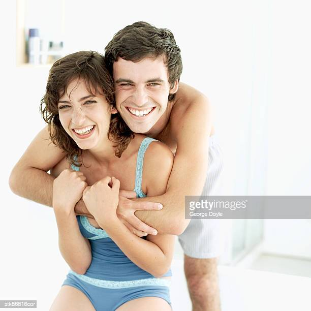 couple in their bathroom