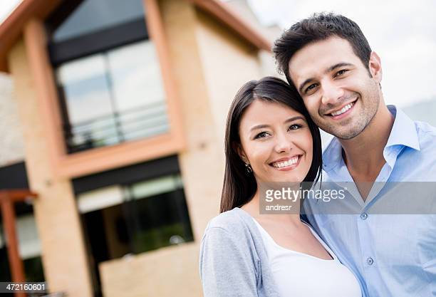 Couple in their new house