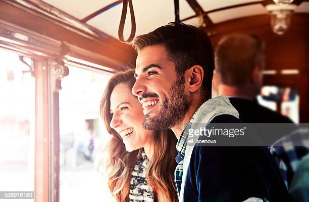 Couple in tram, Istanbul