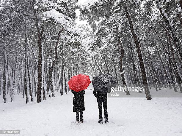 couple in winter