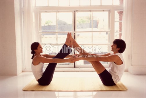 couple in yoga position photo thinkstock. Black Bedroom Furniture Sets. Home Design Ideas