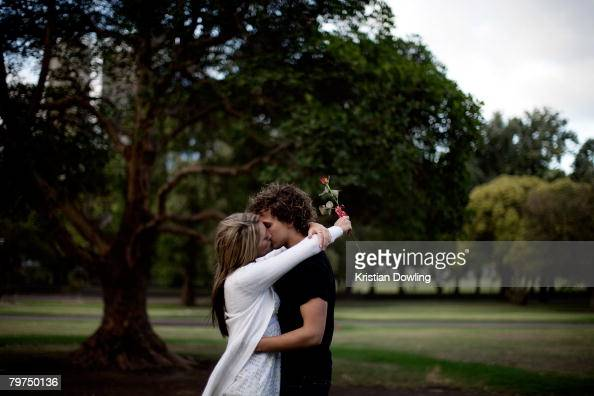 A couple kisses on Valentine's Day February 14 2008 in Melbourne Australia The day is named after two of 11 officially recognised Early Christian...