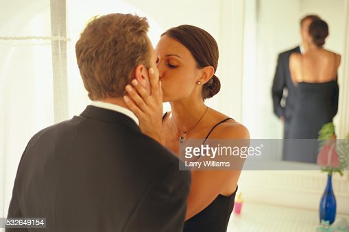 Couple Kissing In Bathroom Stock Photo Getty Images