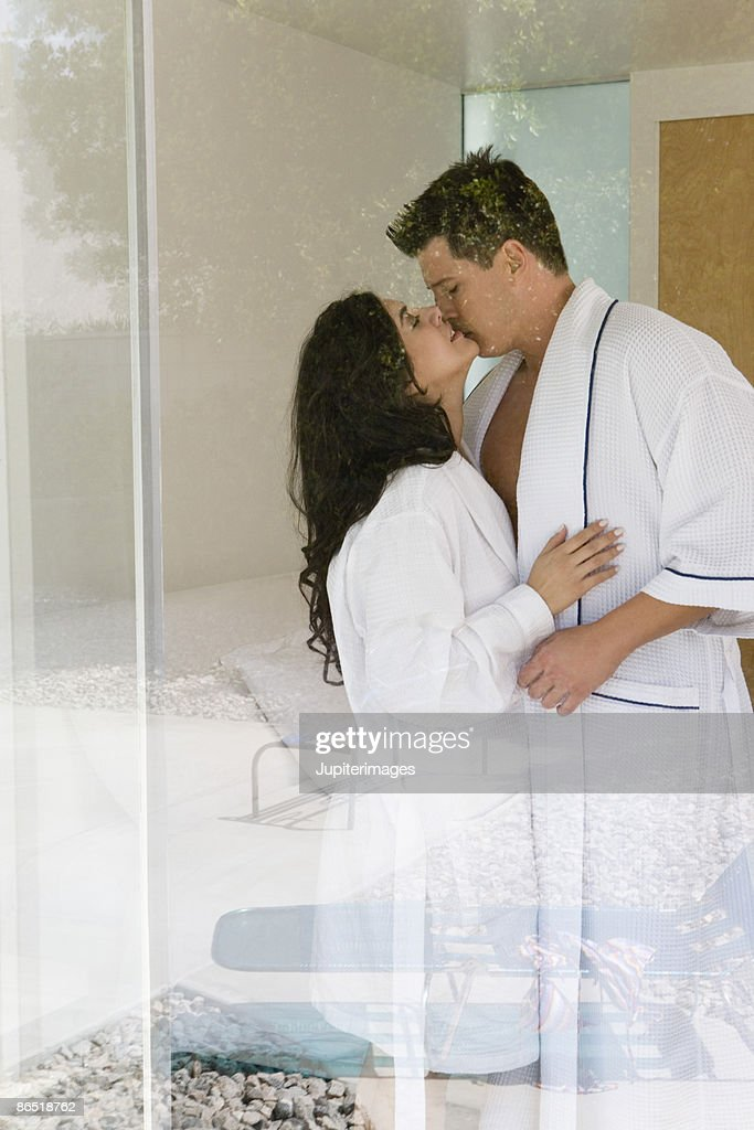 Couple Kissing In Bedroom Stock Photo Getty Images