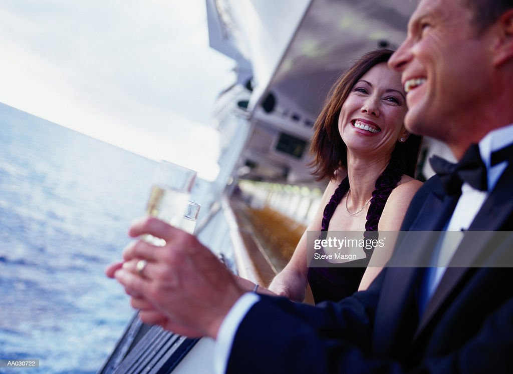 Couple Leaning on a Cruise Ship Railing
