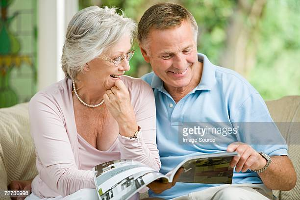 Couple looking at brochure