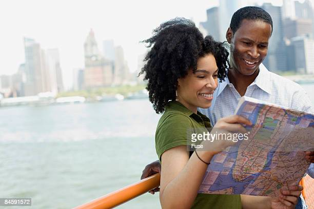Couple Looking at Map