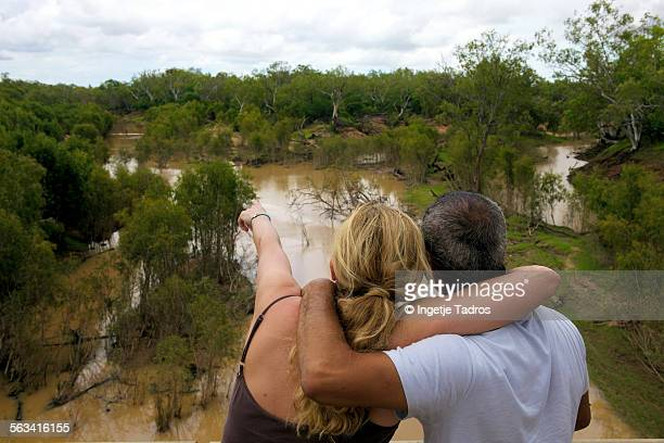 Couple looking over the Fitzroy River