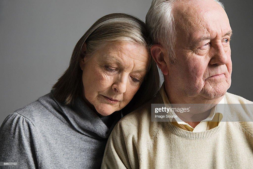 Couple looking worried : Stock Photo