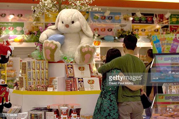 A couple looks over candy for sale at the Jelly Belly Factory April 2 2007 in Fairfield California The Jelly Belly Factory produces approximately 14...
