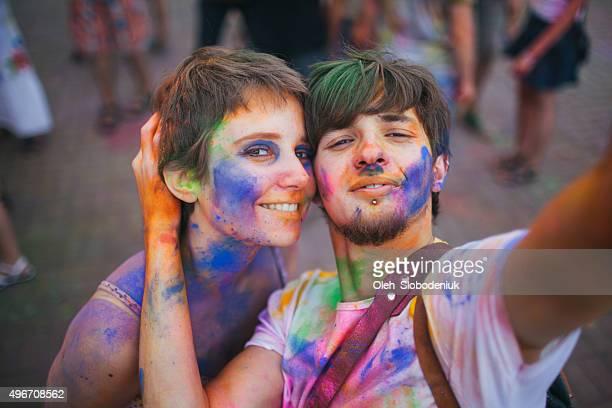 Couple make selfie