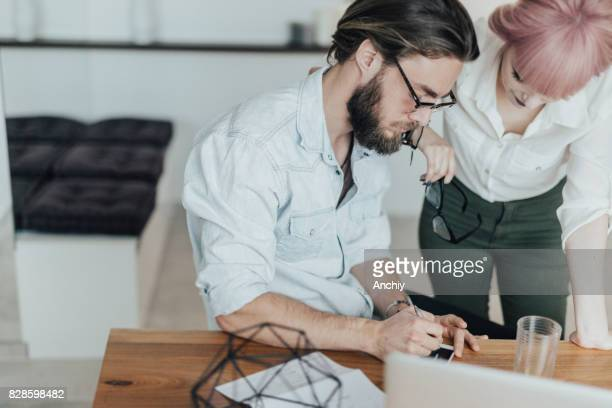 Couple making joint decisions for their household