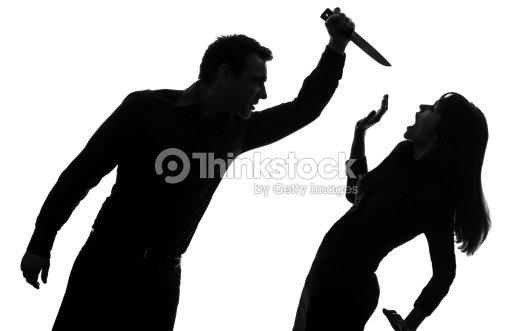 Silueta Hombre Y Mujer: Una Pareja Hombre Mujer De Silueta Matar Foto De Stock
