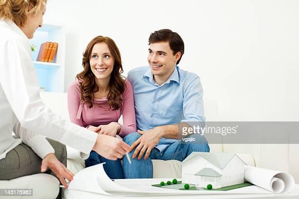 Paar treffen Architekt