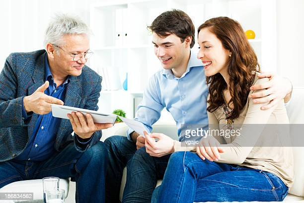 Couple Meeting With Financial Advisor