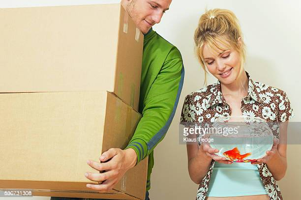 Couple moving in with pet fish