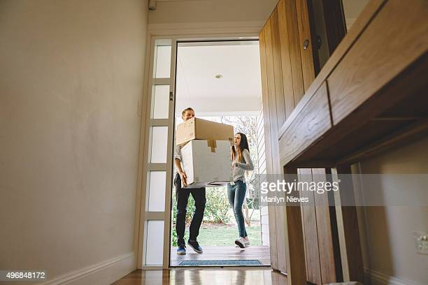 couple moving into their home