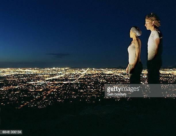 Couple near Cityscape