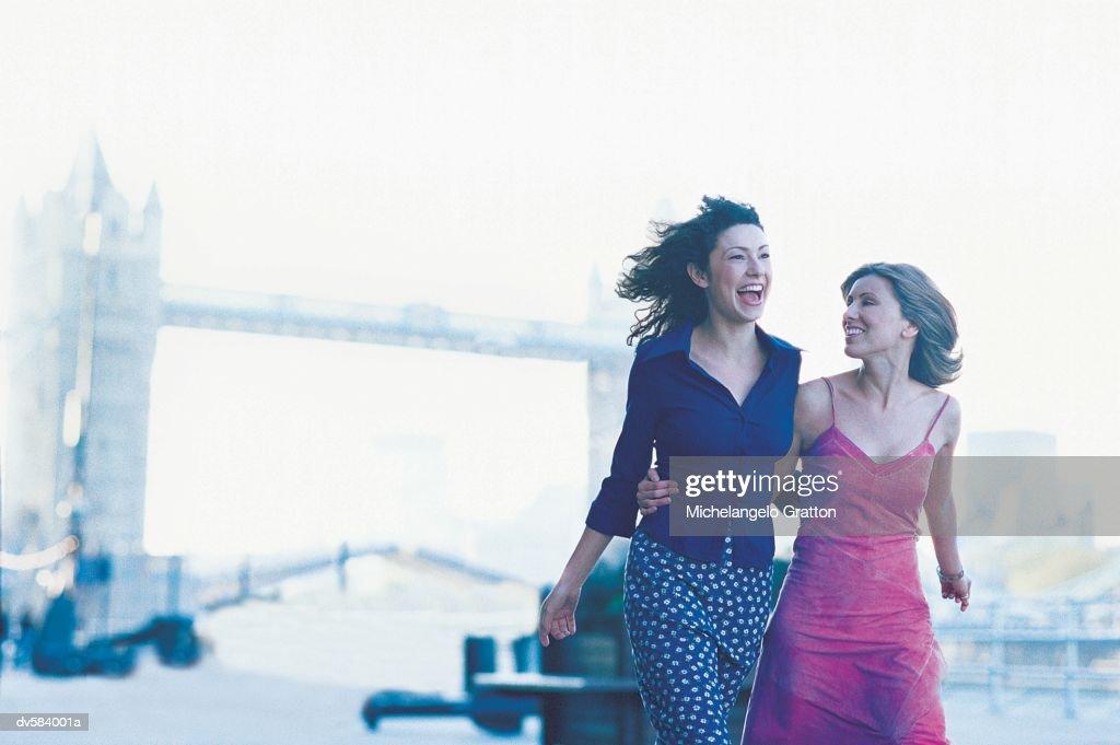 Couple near Tower Bridge, London, England : Stock Photo