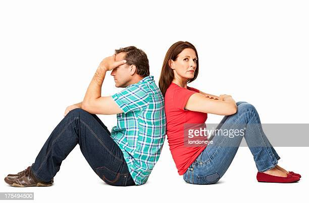 Couple Not Talking - Isolated