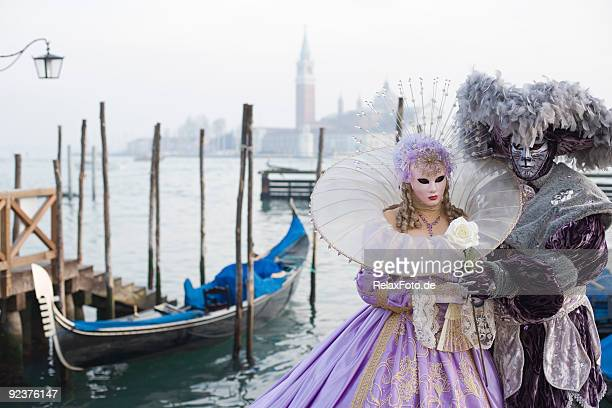 Couple of Masks - Beauty and beast in Venice (XXL)